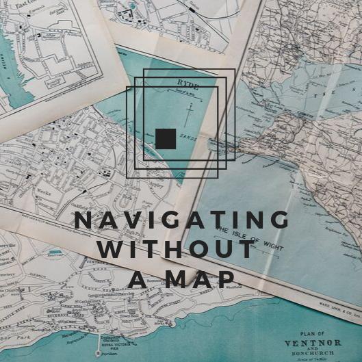 Red Vintage Map Pirate Birthday Invitation